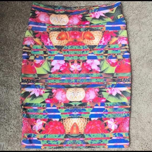 LulaRoe Multicolor Cassie Skirt